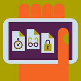 Greg Mably - App, Document, Glasses, Hand, Lock, Mobile, Search, Security, smart phone, Stop Watch