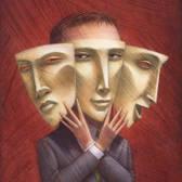 Cathy Gendron - Adaptation, Businessman, Deception, Identity, Identity Crisis, Leadership, Mask, Masquerade, Mood Swing